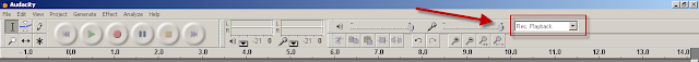 Audacity Volume control bar