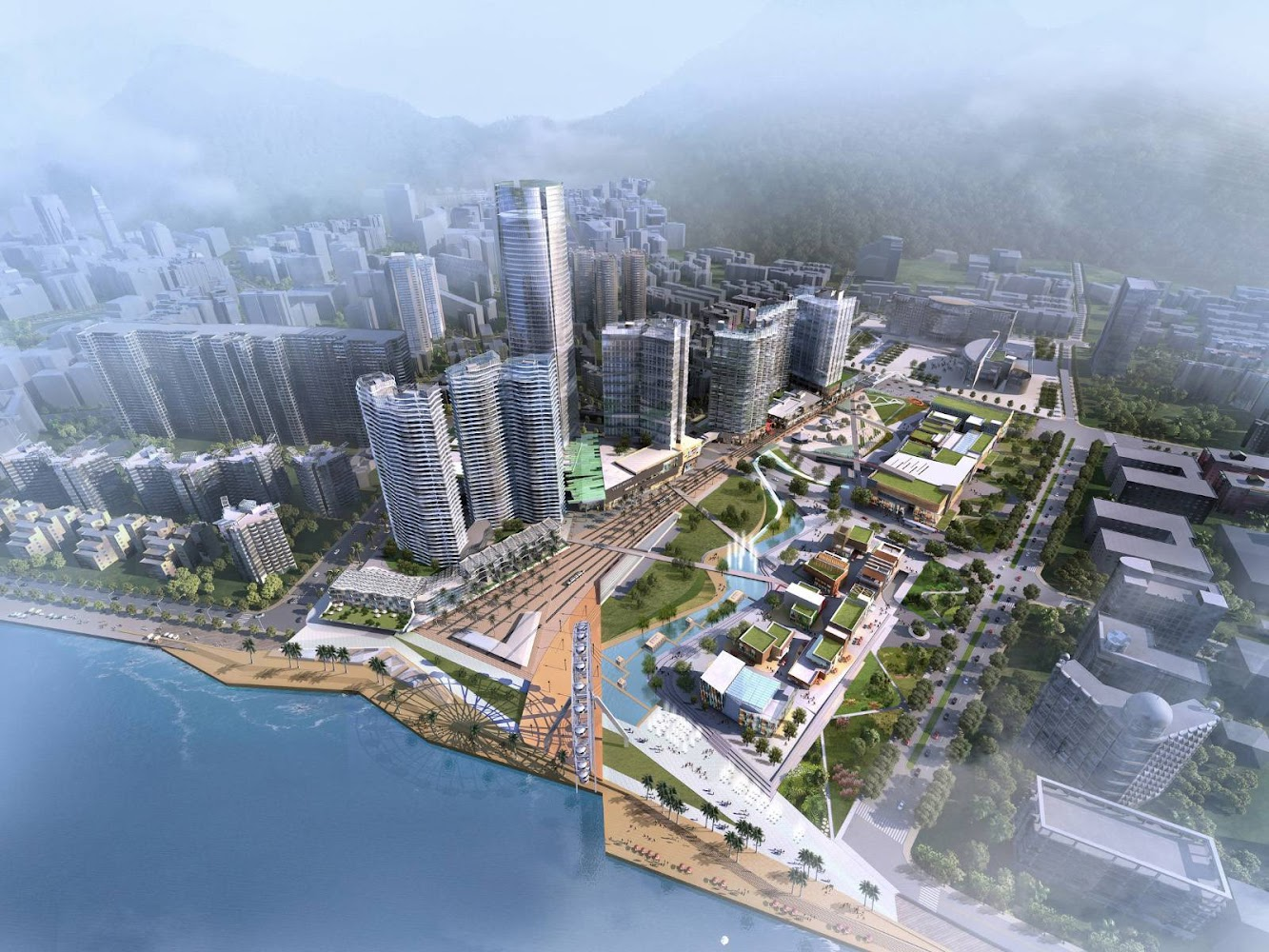 Shenzhen, Quantung, Cina: Vanke One City by 5+DESIGN