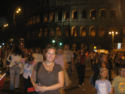 Studying abroad in Rome - at the Colosseum