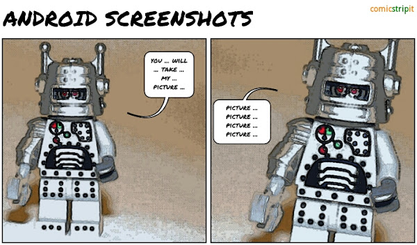 Android Emulator Screenshots, a lego comic strip made with Comic Strip It!
