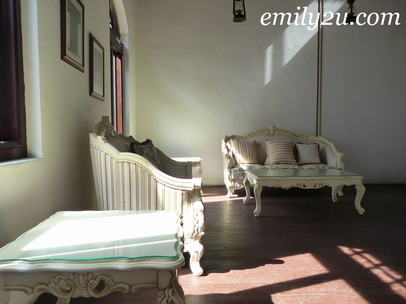 Bistro year 1673 malacca from emily to you for Living room upstairs