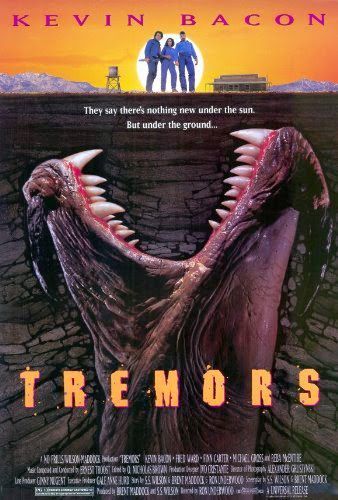 Poster Of Tremors (1990) Full Movie Hindi Dubbed Free Download Watch Online At Alldownloads4u.Com