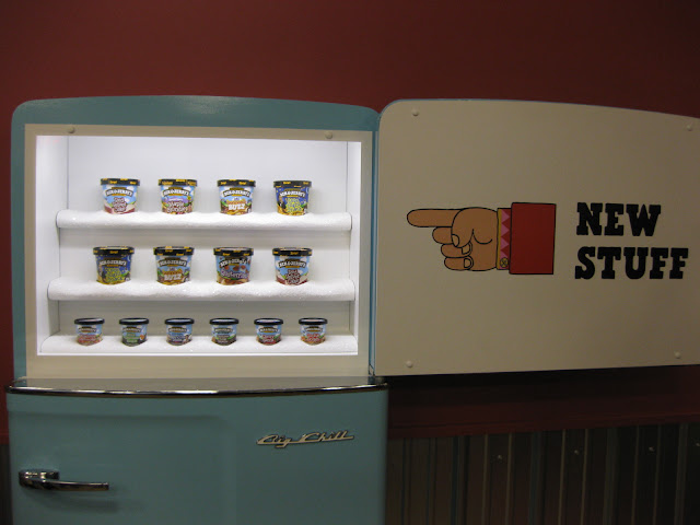 New stuff in the fridge at Ben & Jerry's factory in Waterbury, VT