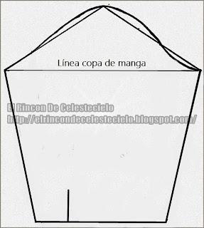421e1d3953 El Rincon De Celestecielo  Patrón básico para manga corta