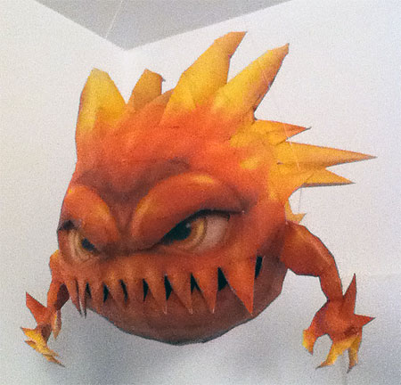 Final Fantasy IX Bomb Papercraft