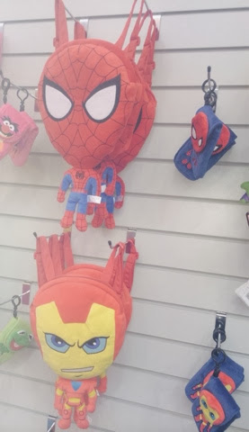 Posh Paws International Superhero spiderman and ironman rucksacks backpacks