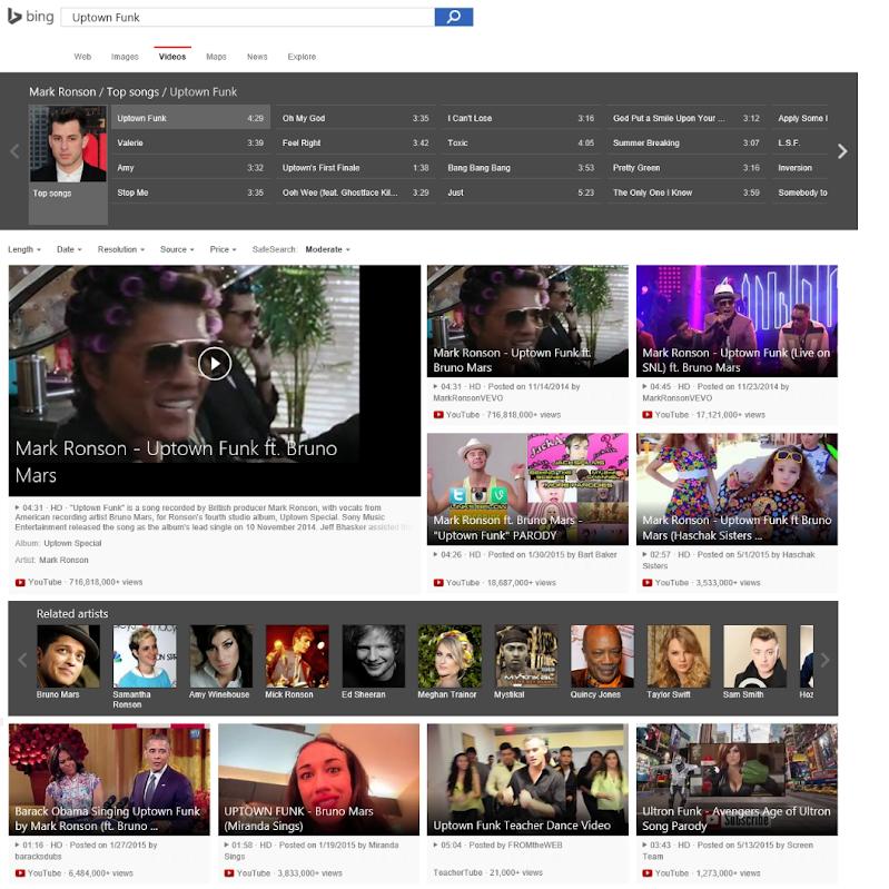 Bing Videosuche neu