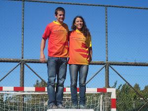 Rosa Valls al costat de Marc Carós, líders de la Copa Catalana