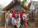 Here's all of our team (plus our friend from the village, Cerille) in front of our hut. The rest of the team stayed in the bigger hut on the right. And our kitchen was the hut on the left.