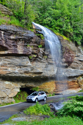 Driving Under Bridal Veil Falls