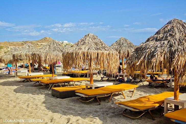 Paradise Beach - Best Party Beach Mykonos Greece.