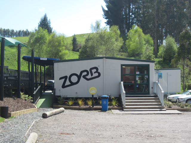 The Zorb operations office on site