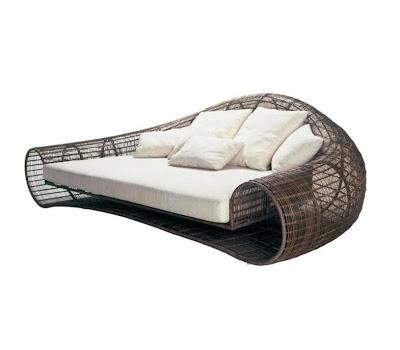Lounge design tuinzetel (Croissant)