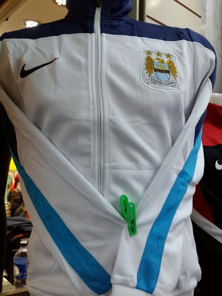 Jaket Manchester City List Biru 2014