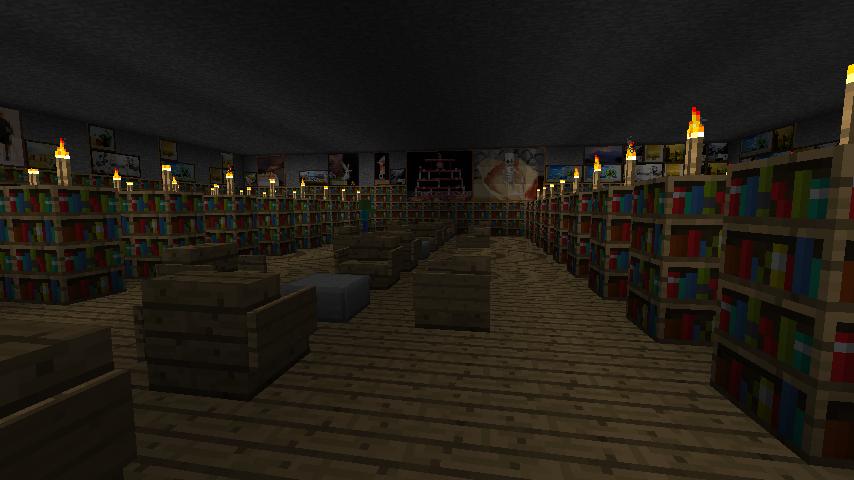 minecraft ideas: Library - Deceiver