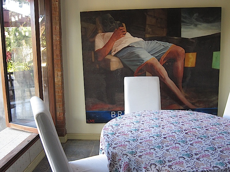large painting in the cafe of Casa San Miguel in San Antonio, Zambales