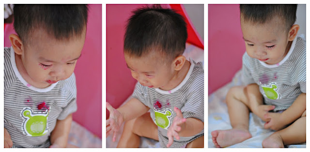 easy clear apple beetroot carrot (ABC) soup (vegetarian) by ServicefromHeart : food tester baby Ren