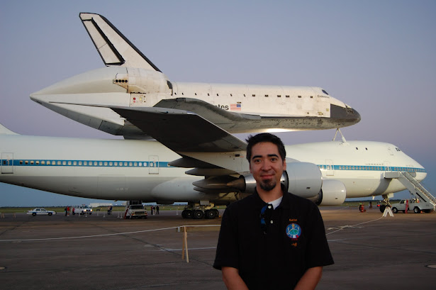 Me with the Space Shuttle Endeavour