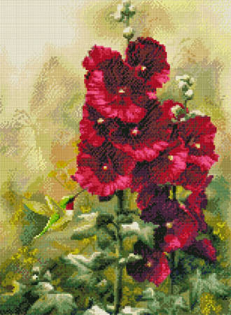 Hummingbird Flowers patterncross stitch pattern