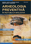 Revista Arheologia Preventivă în Republica Moldova, vol. I, nr. 1-2. Chișinău, 2014, 184 p.