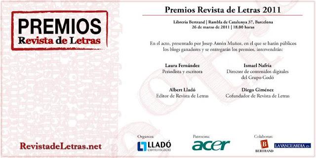 Premios Revista de Letras