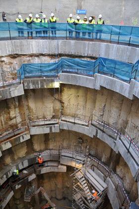 Cale final de la tuneladora del Colector de Pinos