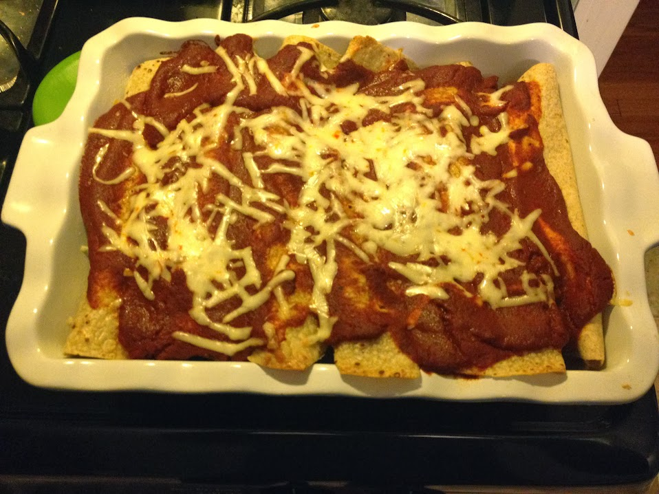 Cooked enchiladas