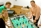 playing foosball with seth & kevin
