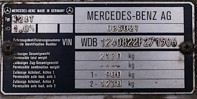 Nct vin number for Mercedes benz vin number
