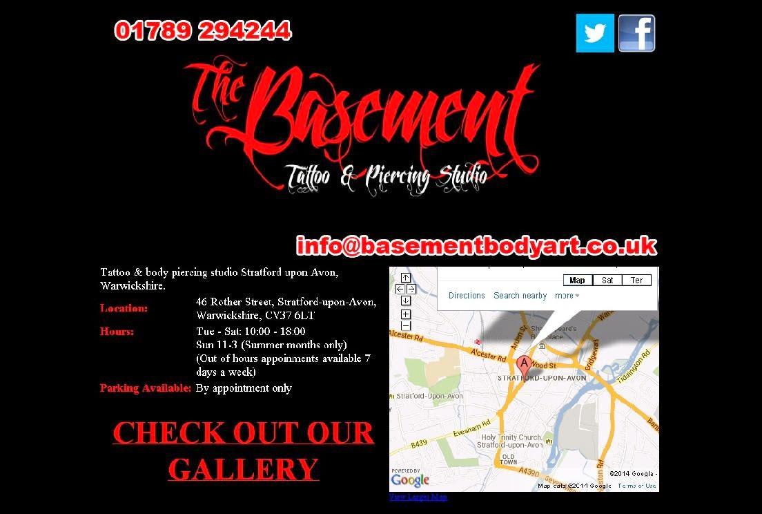 Basement Bodyart   CV37 6LT Stratford Upon Avon   01789 294244