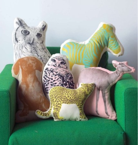 Fauna animal cushions by Areaware
