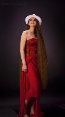very long hair girl photo