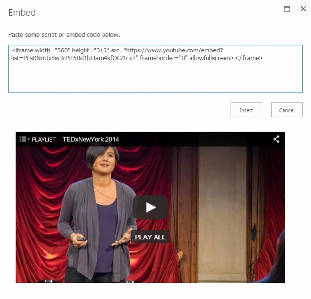 SharePoint Novice: How to: Embed YouTube channel videos on