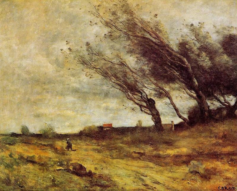Jean-Baptiste-Camille Corot - Windswept Landscape