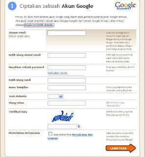 ciptakan akun google