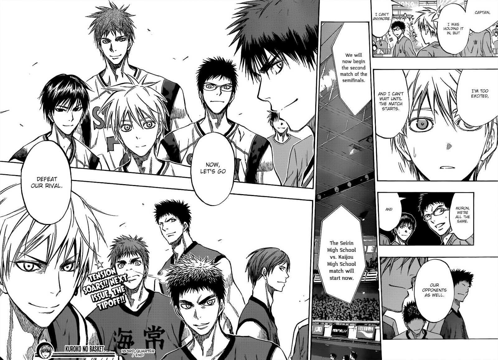 Kuroko no Basket Manga Chapter 183 - Image 18-19
