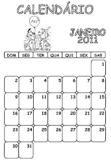 CALENDÁRIO INFANTIL 2011 DALMATAS