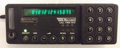 Marconi Mobira MC25, control panel