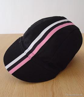Rapha Condor Team Cap, negra, blanca y rosa