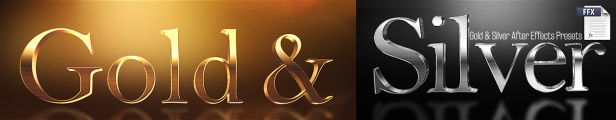 After Effects Presets Gold Silver
