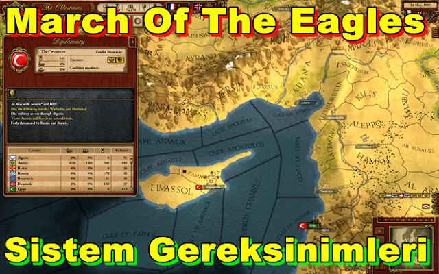 March Of The Eagles PC Sistem Gereksinimleri