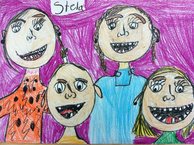 we heart art first grade family portraits