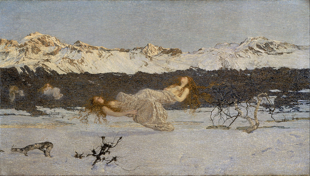 Giovanni Segantini - The Punishment of Lust - Google Art Project