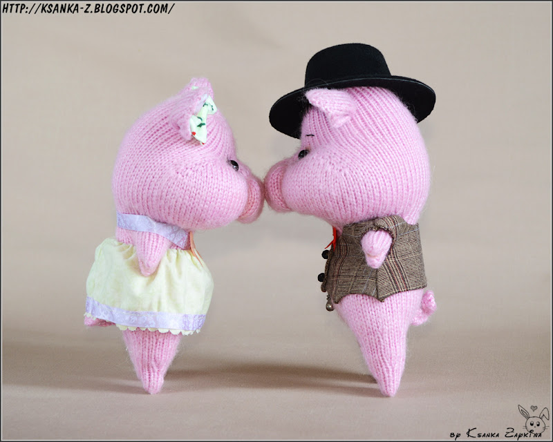 Вязаные игрушки Зайкиной Ксюшки: Вязаные свинки. Knitting ...