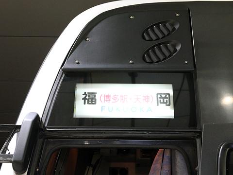 西鉄高速バス「桜島号」夜行便 ドア上方向幕<br /> 鹿児島中央駅にて