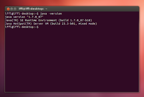 Java 7 Update 7 su Ubuntu - verifica