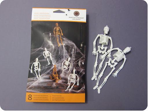 Martha Stewart Crafts mini skeletons are ideal for owl pellets! Only $4.99 for eight at: http://www.eksuccessbrands.com/marthastewartcrafts/Products/Mini_Glitter_Skeletons__M232079.htm