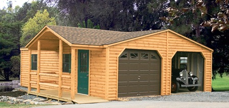 Steel buildings farm sheds to live in and garages the for Live in garage kits