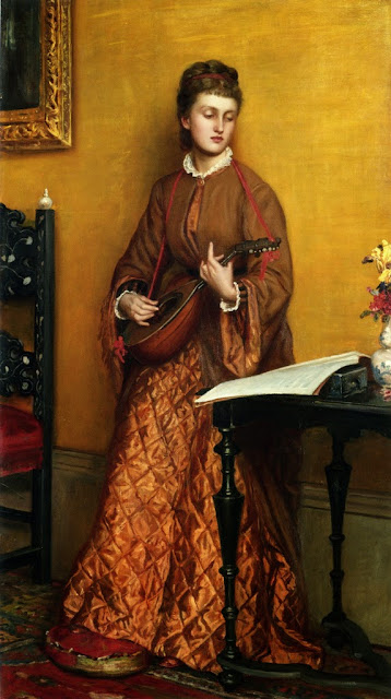 Valentine Cameron Prinsep - The Mandolin Player