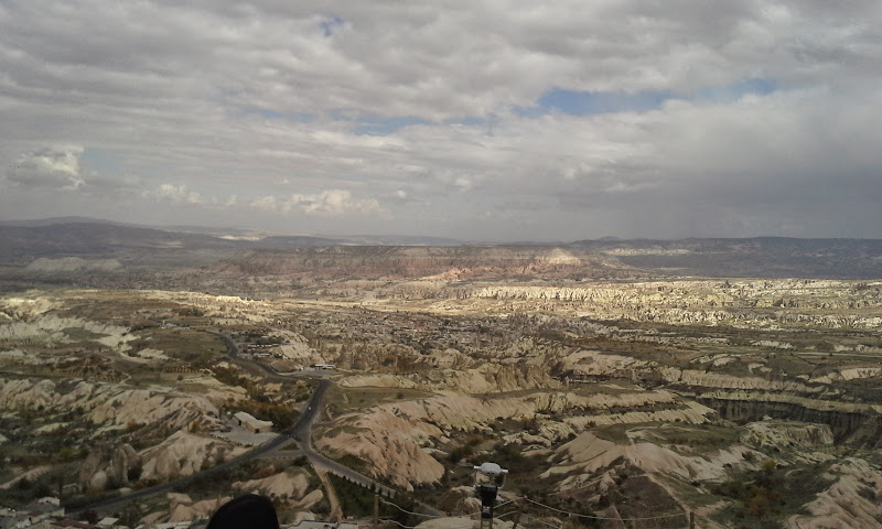view from top of Uchisar castle